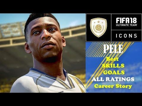 Best of ICONS FIFA 18 Best GOALS SKILLS of PELE New ICON Official Career Story and 3 Different Ratin PELÉ The only player to score more goals for Brazil than Ronaldo Nazário Pelé was quite simply one of the greatest footballers of all time. Six Brazilian Championships three World Cups and over 600 competitive goals in a career spanning 21 years justify his status as one of the all-time legends of the game. ICONS IN THEIR OWN WORDS FUT 18 ICONS Roberto Carlos Alessandro Del Piero Michael Owen…