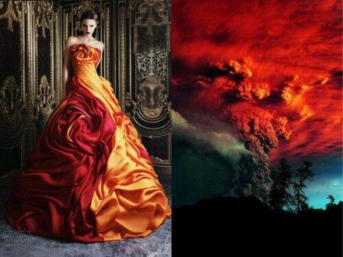Volcanic fashion & nature photo collage by Liliya Hudyakova