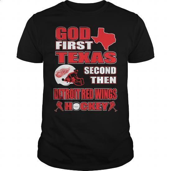 TEXAS-DETROIT RED WINGS - #womens sweatshirts #work shirt. ORDER NOW =>…