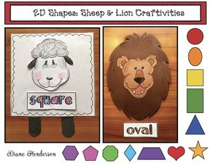 "March Activities: 2D, shapely ""Lion & Lamb"" craftivities & games. Great for a March ""In Like a Lion; Out Lke a Lamb"" theme. Completed projects make a terrific spring bulletin board display."