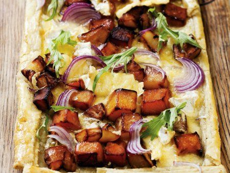 Rezept: Vegane Kürbis-Süßkartoffel-Tarte