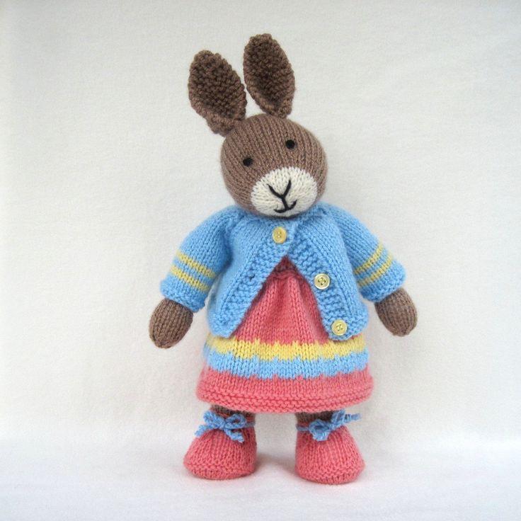 Mother Bunny 13 Quot 33cm Rabbit Doll Knitting Pattern