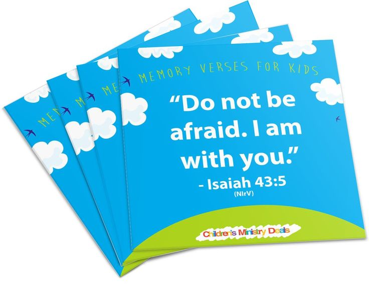 52 free printable memory verses for kids - Free Children Images