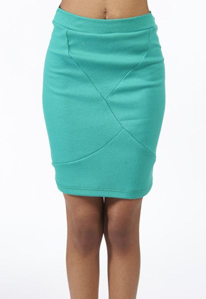 Faceted Pencil Skirt