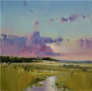 Salthouse Sky and Clouds - Kieron Williamson Paintings (10 year old English boy)