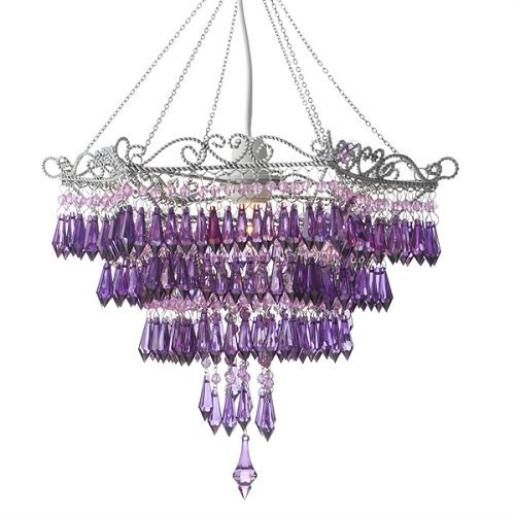 139 best purple lamps chandeliers candles images on pinterest this would look great in my bedroom a purple chandelier mozeypictures Images