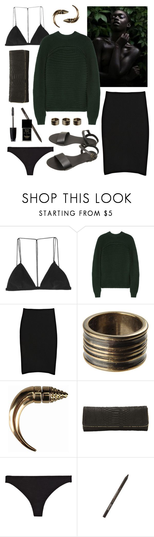 """""""Untitled #1541"""" by doxophobia ❤ liked on Polyvore featuring Dion Lee, Alexander Wang, McQ by Alexander McQueen, Maison Margiela, Givenchy, JLynch, Donna Karan, ULTA and Butter London"""