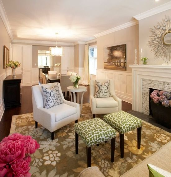living room with sofa and two accent chairs table centerpieces small rooms formal couch decorate pinterest