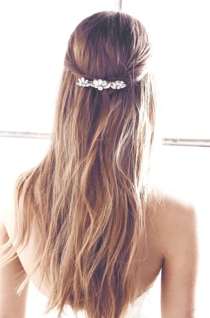 Semi-open hairstyle for the bride