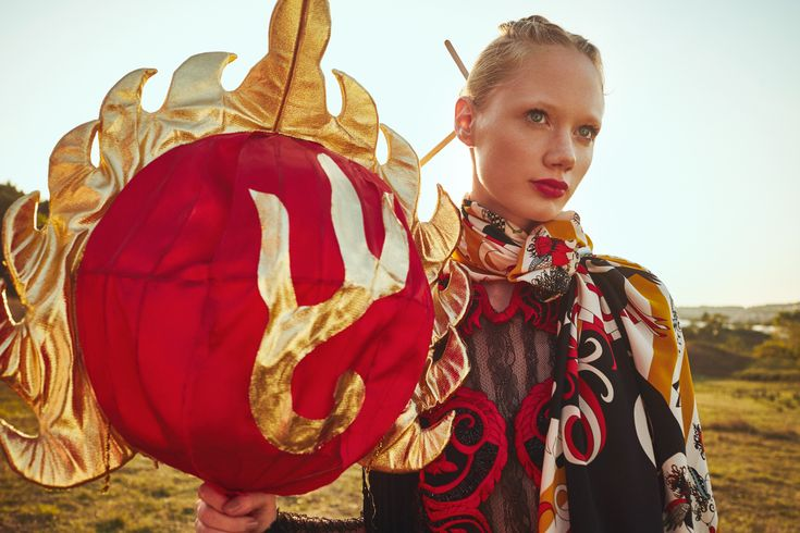 Rumisu tribute to Ganesha with creative direction by Bahar Kongel Fransez styling & production by Le Koko Collectif photo by Firat Meric make up by Melis Ilkkilic hair by Nuri Sekerci model by True Models Istanbul – Elizaveta Precup