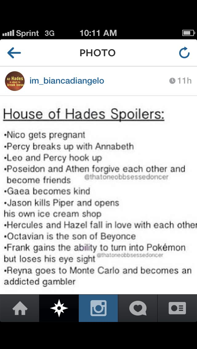 House of Hades Spoilers