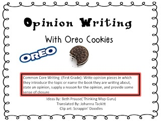 First Grade Fanatic!: O-R-E-O OPINION Writing! Yummers! Going to do this in my first grade classroom for Junior Experience :) They will Love it!