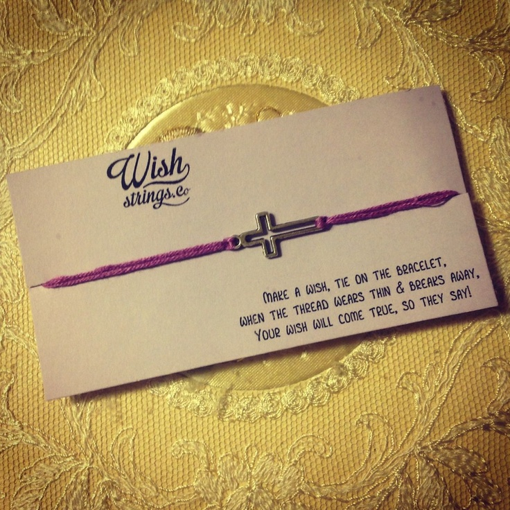 Cross Wish String via WishStrings. Click on the image to see more!