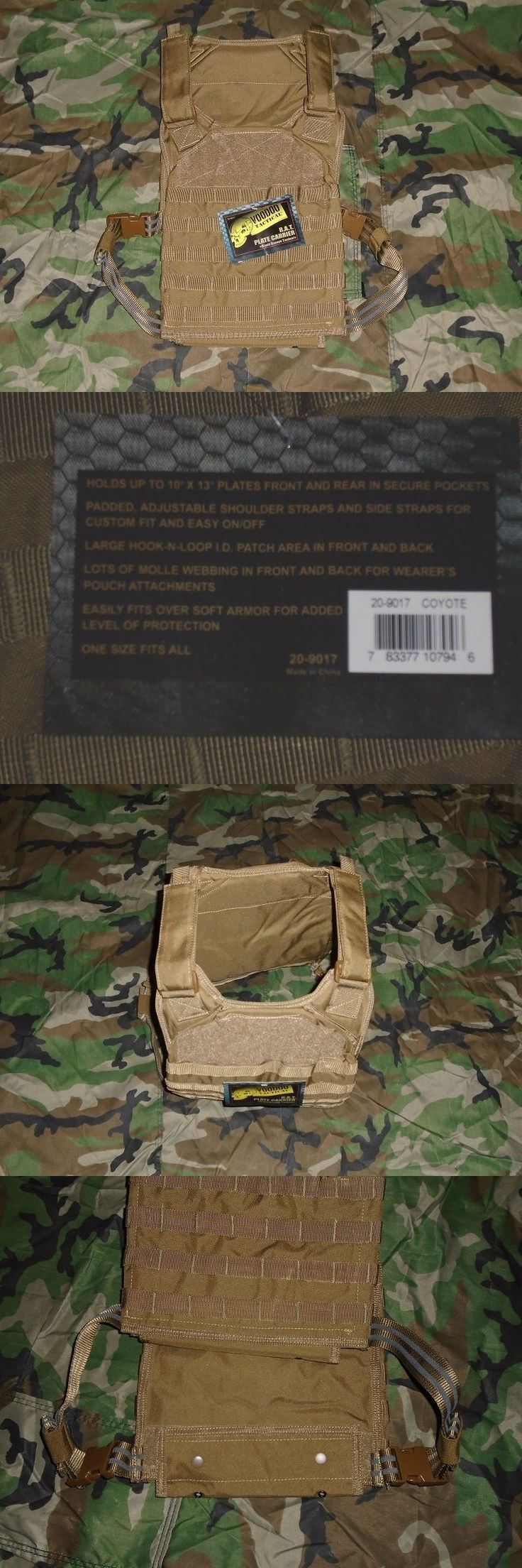 Chest Rigs and Tactical Vests 177891: Voodoo Tactical Rapid Assault Tactical (Rat) Molle Plate Carrier Vest Tan BUY IT NOW ONLY: $59.95