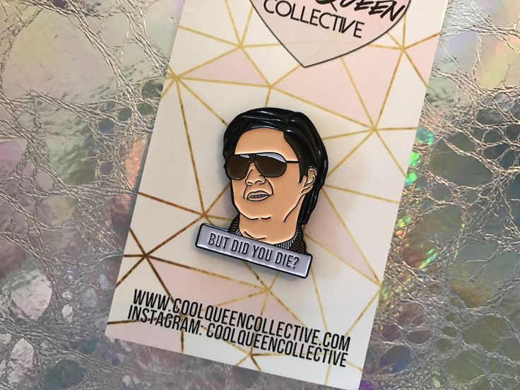 """Mr. Chow from The Hangover (this line is from the second movie). ;)- 30 mm (approx 1.18"""" tall)- soft enamel- logo back stamp- 2 back posts for added security"""