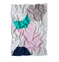 THE ATLANTIC CLASSIC BLANKET Pink/Green/White