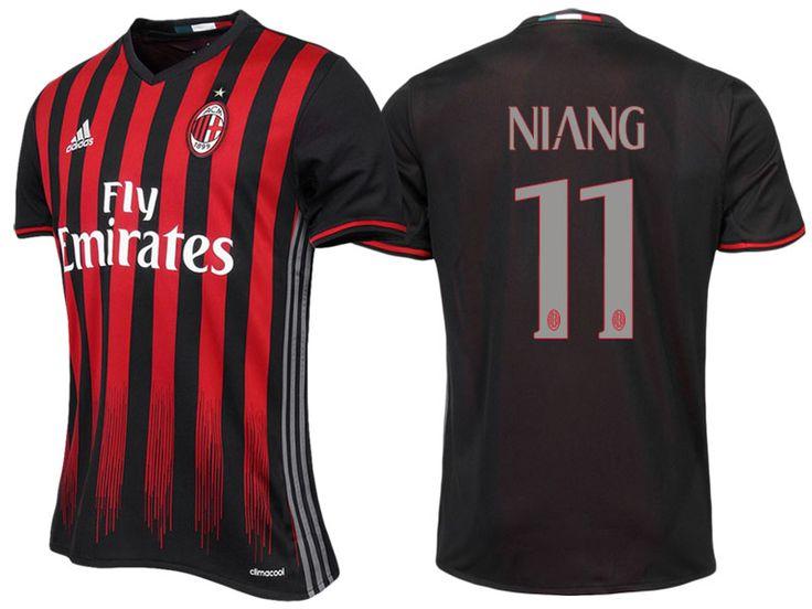 AC Milan #11 M'Baye Niang 2016-17 Home Jersey
