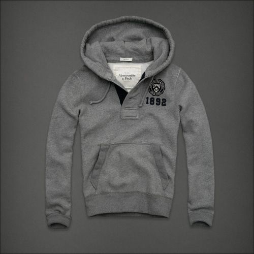 Abercrombie And Fitch Mensen Hoodies Grijs Online