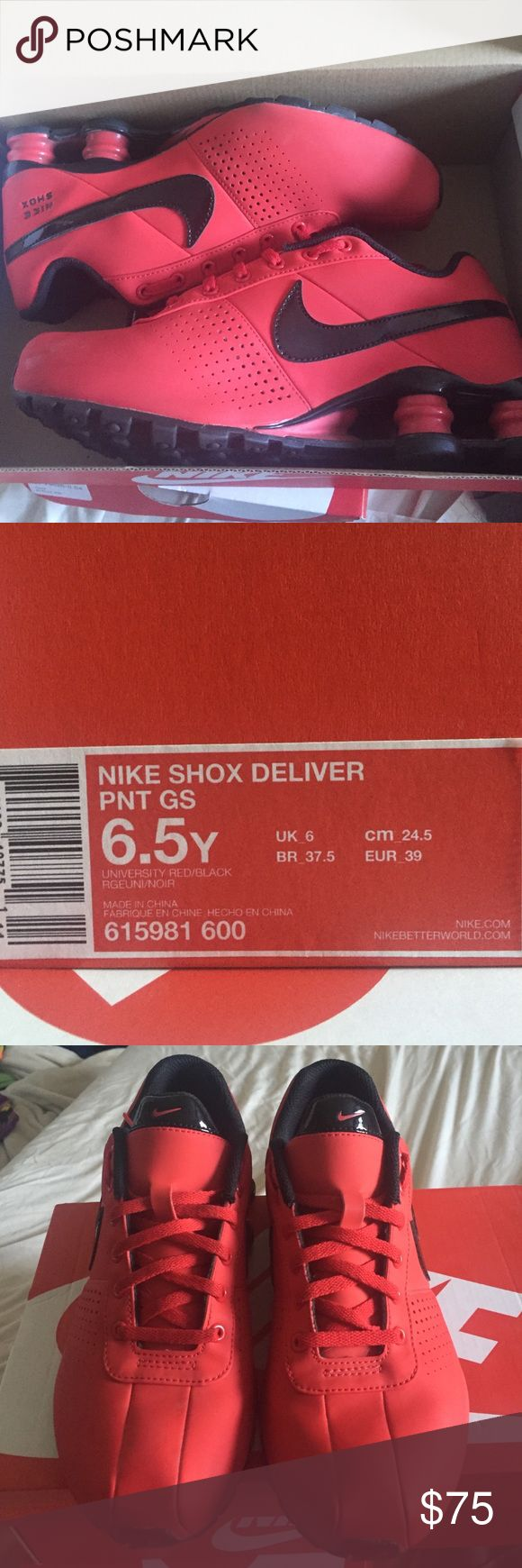 Red & black Nike shox Red & black Nike shox. Barely worn, great shape. Nike Shoes Sneakers