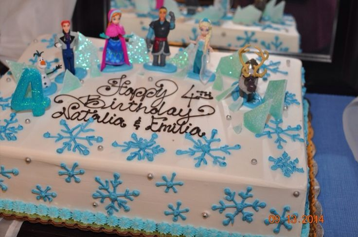 Frozen theme 1/2 sheet cake