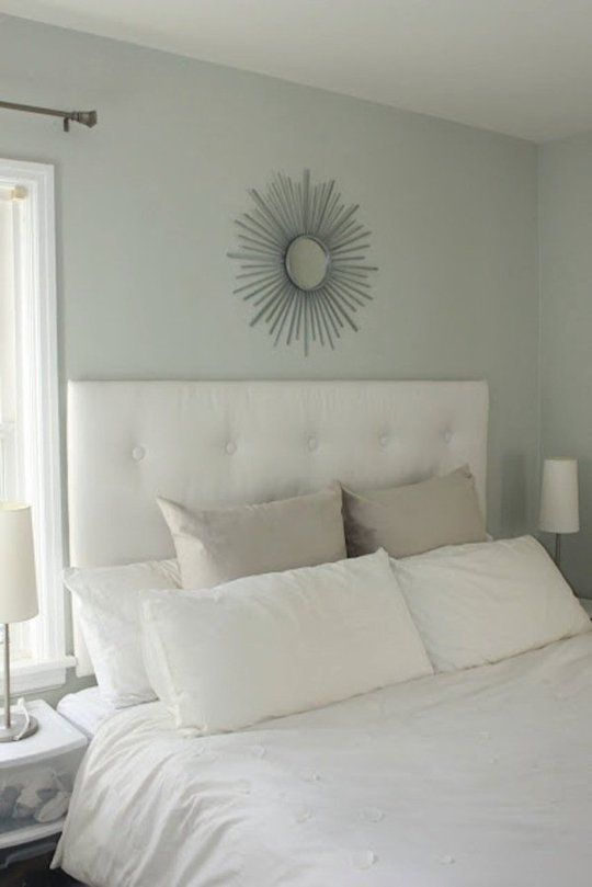 If you believe in calming colors in the boudoir, Misty China Rain (30GY 73/053) is the most soothing grey-green around.