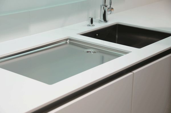 another thin Corian countertop