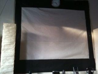 Make a Portable Projector Screen for Less Than Ten Bucks