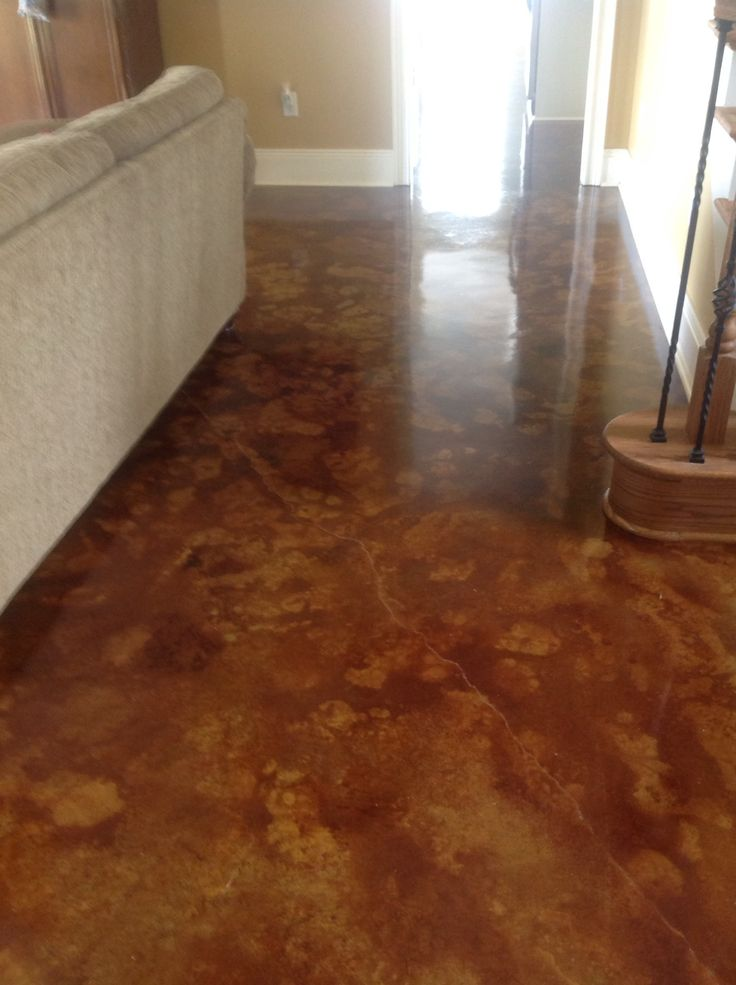 Have an ugly or boring sidewalk patio or interior slab - How to finish concrete floors interior ...