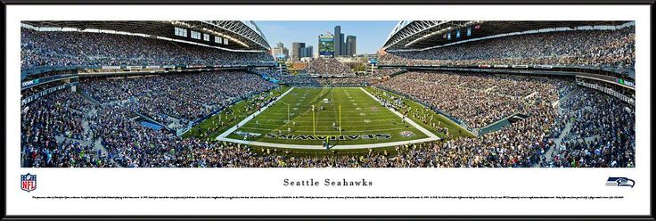 Seattle Seahawks Panoramic - CenturyLink Field Picture Framed