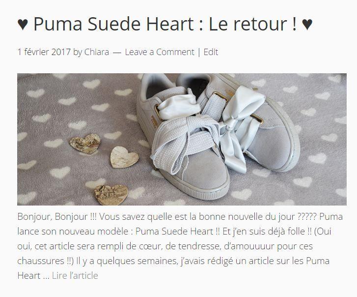 Basket Puma Heart Grise