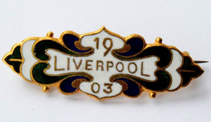1903 LIVERPOOL COUNTY STAND HORSE RACING ENAMEL BADGE / AINTREE GRAND NATIONAL