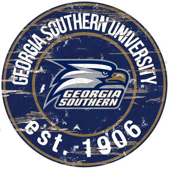 NCAA  Georgia Southern University  Round by WorldTrading on Etsy