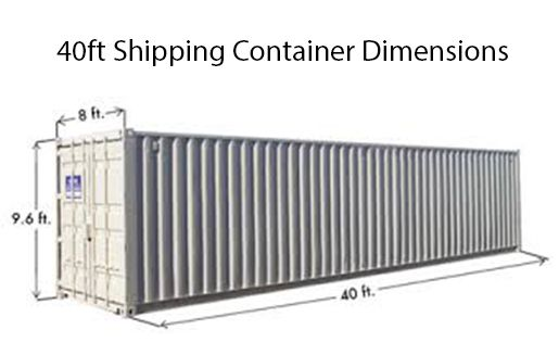shipping container dimensions 45