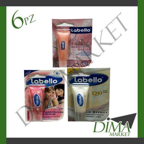 6 PEZZI LABELLO 10ML VARI TIPI CAREGLOSSSHINE LIP EFFECT Q10PLUS GLAMOROUS GLOSS