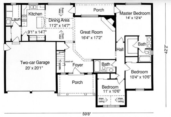76 best 1500 square foot house plans images on pinterest for 1500 sq ft country house plans