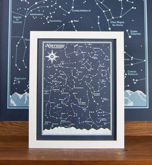 northern hemisphere star chart print by brainstorm 8x10
