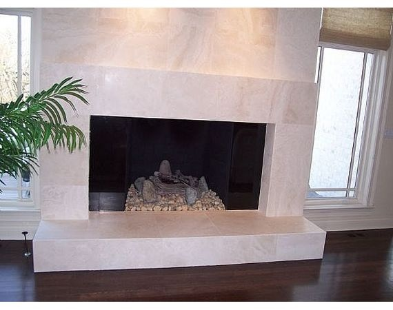 how to install marble tile on a fireplace tiled designstone ideasmantel