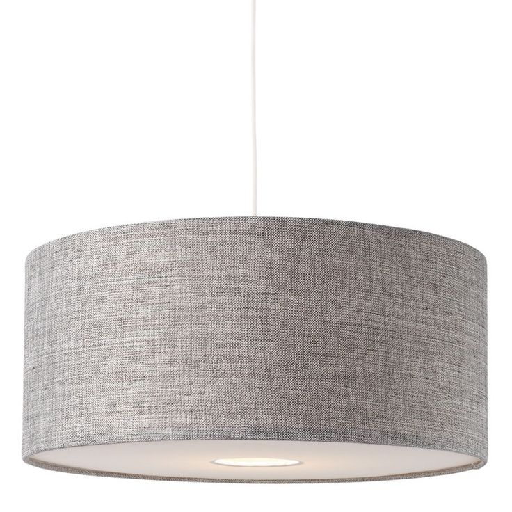 Colours Burnett Grey Drum Light Shade Dia400mm