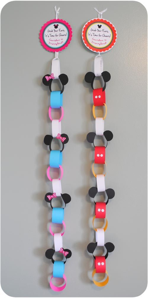 Disneyland Vacation Countdown Chain ….if it wasnt going to be a surprise, id t… – Debbie Lokits