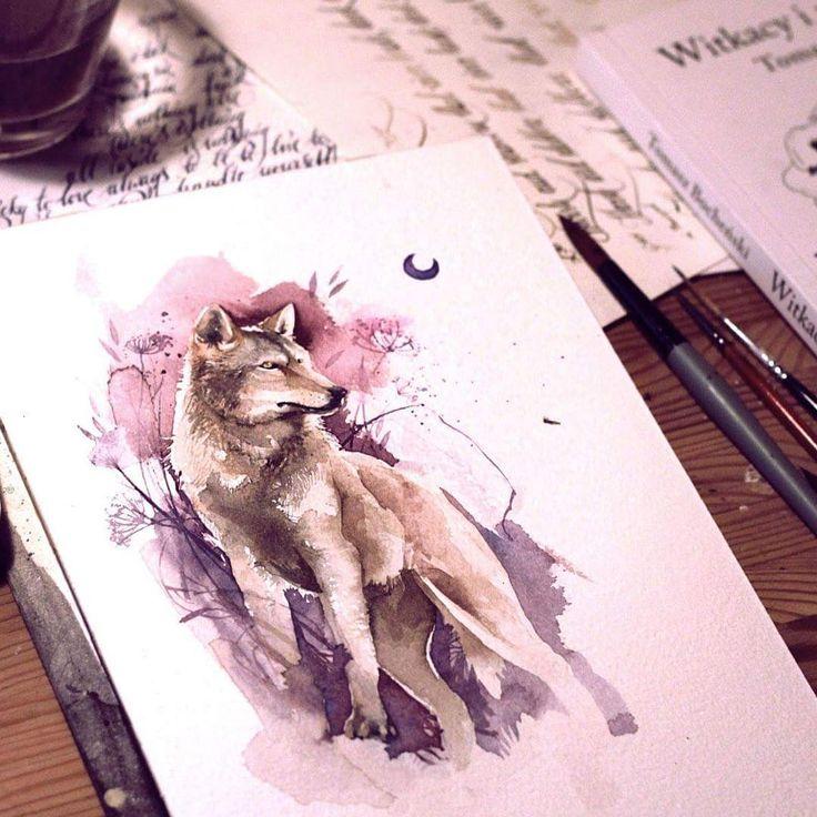 #wolf #watercolor                                                                                                                                                      Mehr