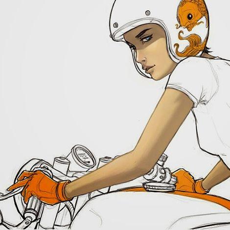 Moto Art - Illustration by Vietn Guyen.