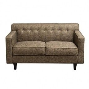 Diamond Sofa Mid-Century Loveseat In Pepper Tweed