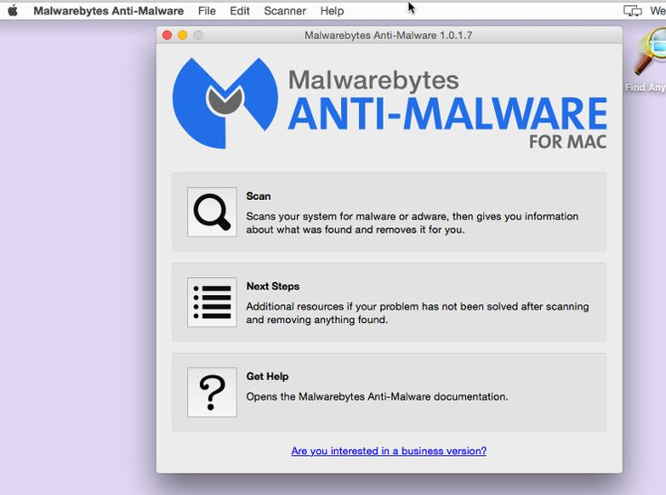 Start a scan with Malwarebytes Anti-Malware for Mac