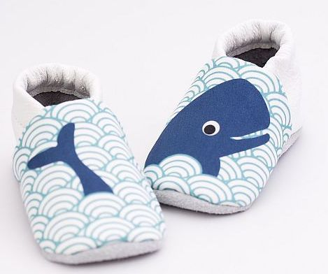 Capačky Dancing whale - First Baby Shoes