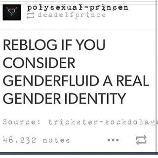 I believe it's a real gender identity, considering I identify as genderfluid myself.