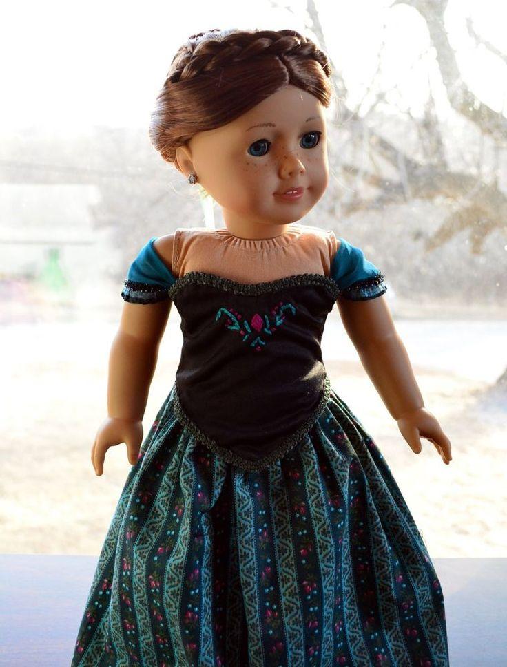 "Anna's Coronation Dress in Disney's Frozen Clothes for 18"" American Girl -Lumi"