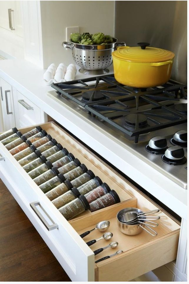 Okay, the spices are cool, but what I really love is the stove with the continuous burners!