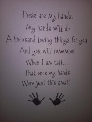 This made me tear up. I get real emotional when it hits me that they are only this small for a very SHORT time! by kenya