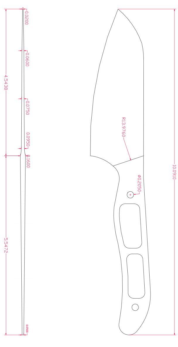 Chopper Chef Knife Fusionwood 2.0