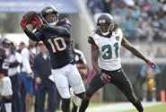 DeAndre Hopkins named AFC Offensive Player of the Week. Hopkins finished the game with 10 receptions for 148 receiving yards (14.8 avg.) and two touchdowns in Houston's 31-20 victory against Jacksonville 10/18/15